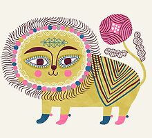 Folk Lion by HappyDoodleLand
