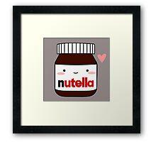 Cute Nutella jar Framed Print