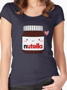 Cute Nutella jar Women's Fitted Scoop T-Shirt