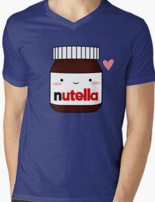 Cute Nutella jar Mens V-Neck T-Shirt