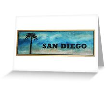 San Diego Palm Tree Greeting Card