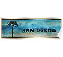 San Diego Palm Tree Poster