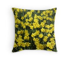 A Host of Golden Daffodils Throw Pillow