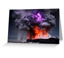 Kilauea Volcano at Kalapana 5 Greeting Card
