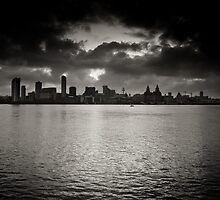 Liverpool Skyline at Dawn by lemonnelly
