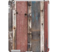 Wooden fence colorful background  iPad Case/Skin