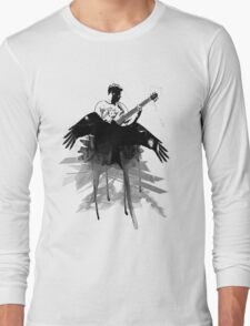 Music makes me fly... Retro - Grunge - Vintage Long Sleeve T-Shirt