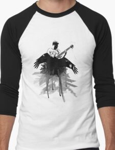 Music makes me fly... Retro - Grunge - Vintage Men's Baseball ¾ T-Shirt