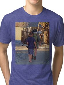 The Photographer and his assistant Tri-blend T-Shirt