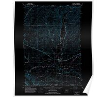 USGS Topo Map Washington Touchet 244325 1991 24000 Inverted Poster