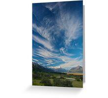 Cloud over Aoraki/Mt. Cook - New Zealand Greeting Card