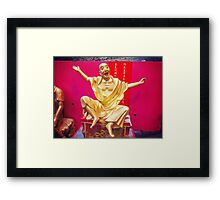 Ten thousand buddhas monastery in Hong Kong Framed Print