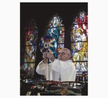 Catholic DJ Earth Pope Francis Turntable EDM Kids Tee
