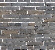 Grey colorful grunge brick wall background by bawanch