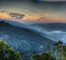 Merlin's Vision - Merlin's Lookout , Hill End NSW Australia - The HDR Experience by Philip Johnson