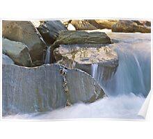 Flow - Rob Roy Valley, Mt. Aspiring National Park Poster