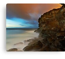 Wet Cliff Canvas Print