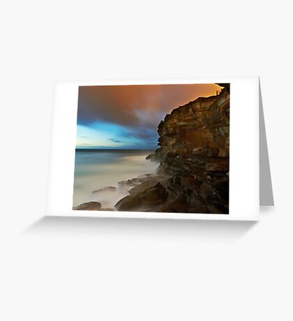 Wet Cliff Greeting Card