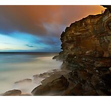 Wet Cliff Photographic Print