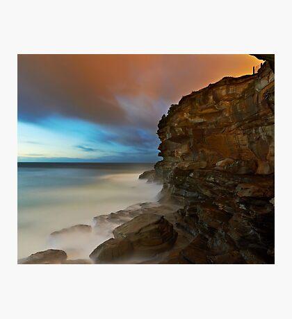 Wet Cliff Photographic Print