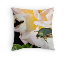 June Beetle Throw Pillow