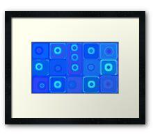 Dizzy Squares Framed Print