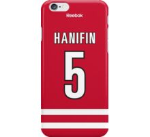 Carolina Hurricanes Noah Hanifin Jersey Back Phone Case iPhone Case/Skin