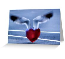 Fly Away Heart Greeting Card