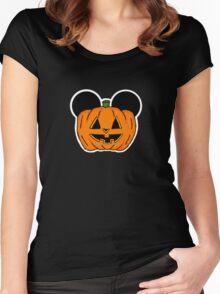 Halloween Ears Women's Fitted Scoop T-Shirt