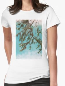 landscape of  blue lake in the mountain Womens Fitted T-Shirt