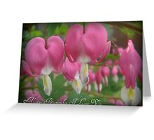 """Bleeding Hearts"" Greeting Card"