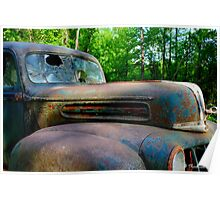 1942 Ford - Found in Cass County, Texas Poster