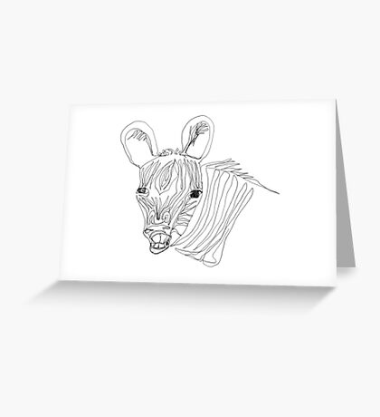 I think this zebra is laughing at me Greeting Card