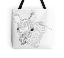 I think this zebra is laughing at me Tote Bag