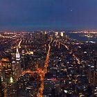Manhattan at Night by Darren Spidell