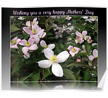 Wishing you a very happy Mothers' Day Poster