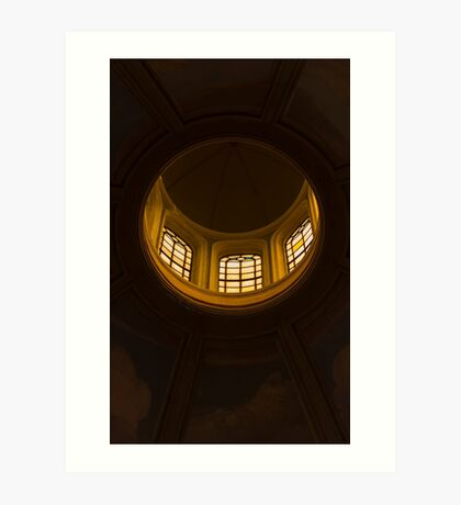 ceiling of the dome of the church Art Print
