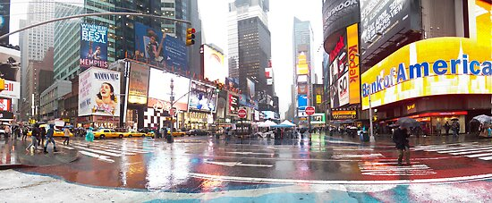 Times Square Panorama by Darren Spidell