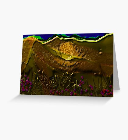 Night landscape Greeting Card