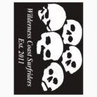Wilderness Coast Surfriders - Skulls - Sticker by wcsurfriders