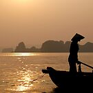 Vietnam sunset by Yarn