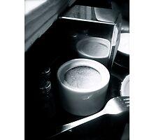 Sugar bowl & fork Photographic Print