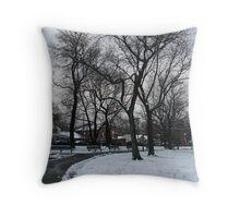 Wintery Path Throw Pillow