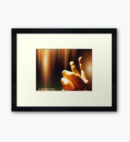 The Hand of God Framed Print