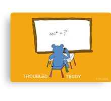 TROUBLED TEDDY Canvas Print
