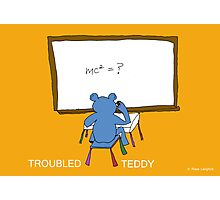 TROUBLED TEDDY Photographic Print