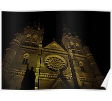 """The Gothic Sacred Place"" - St Mary's Cathedral Poster"