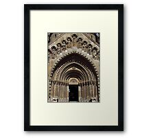 Jak Church Entrance, Budapest Framed Print