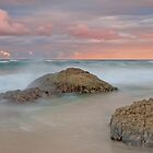 Dusk On the Rocks - Miami Beach Qld by Beth  Wode