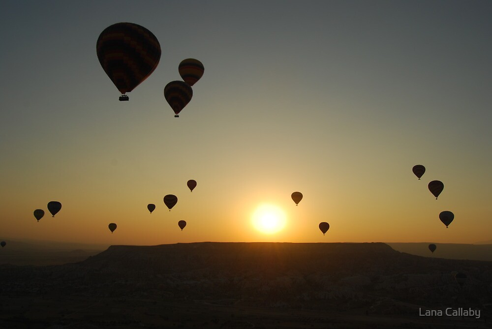 Ballooning at Sunrise by Lana Callaby